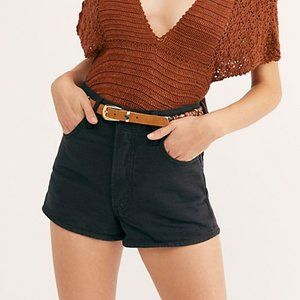 New Levi's Wellthread Black Ribcage Denim Shorts